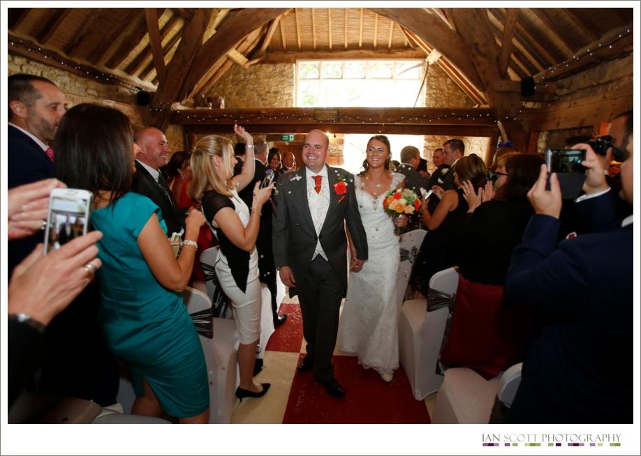 bride and groom notley tythe barn