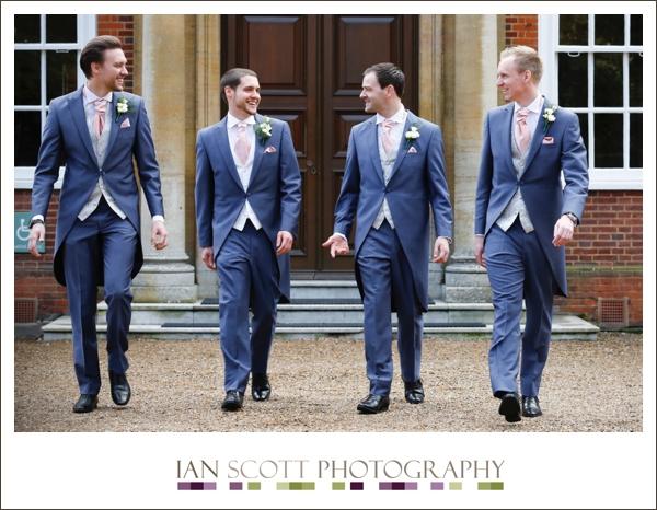 groomsmen at Hunton park weddings