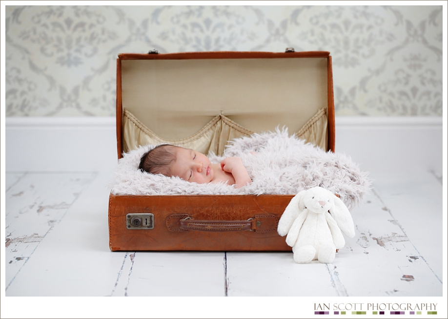 Newborn photo session in the studio
