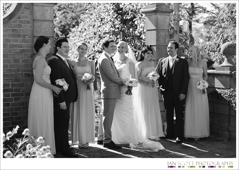 outside wedding at Fanhams Hall