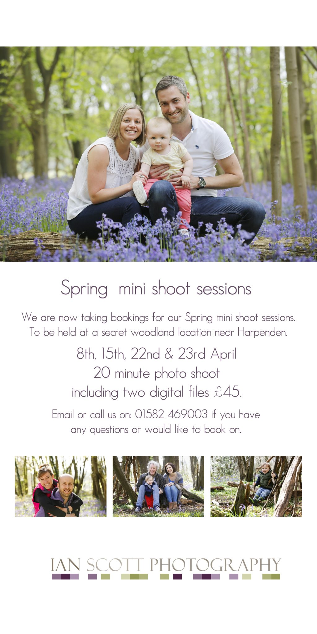 Spring photo shoot sessions Harpenden