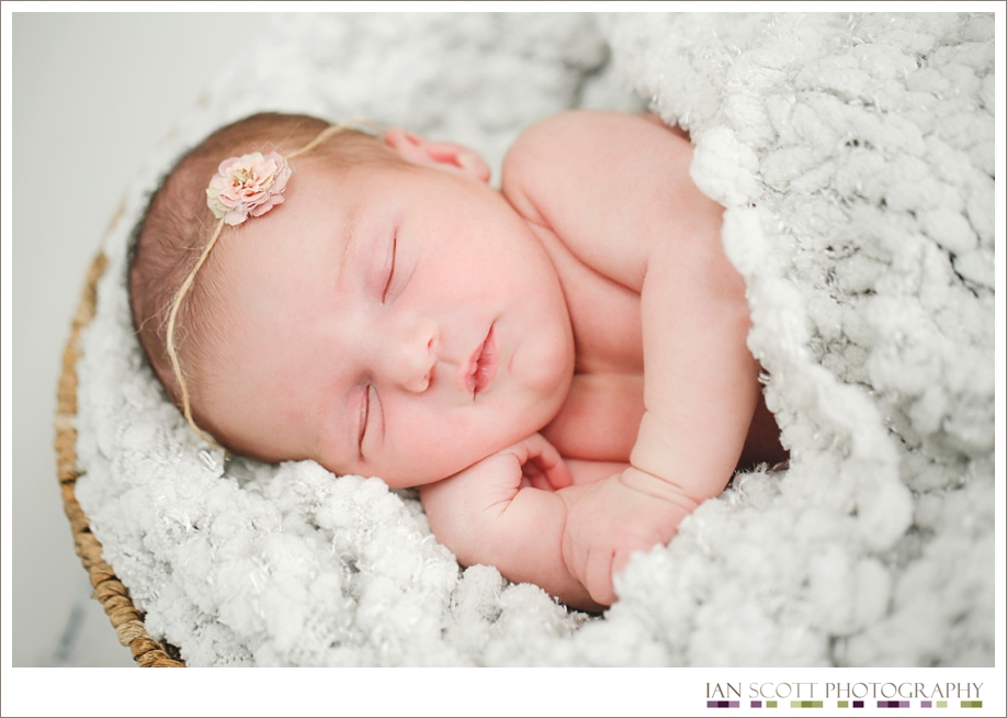 newborn peacefully sleeping