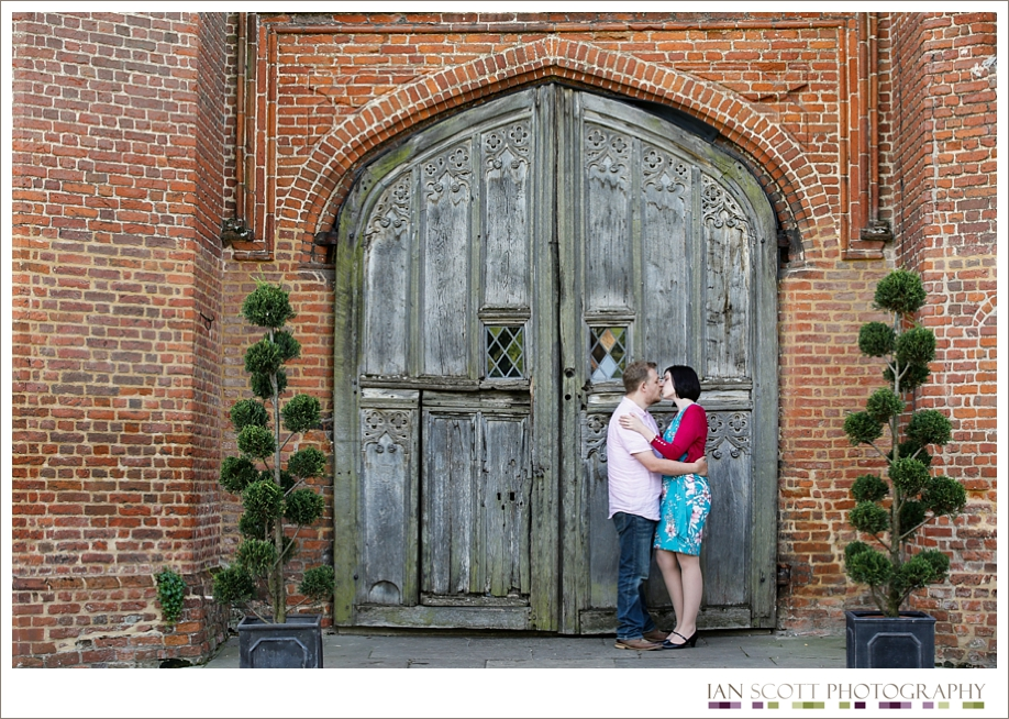 engagement shoot at Leez Priory