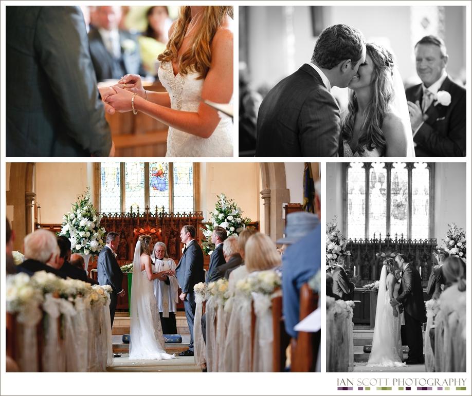 church wedding and marquee reception