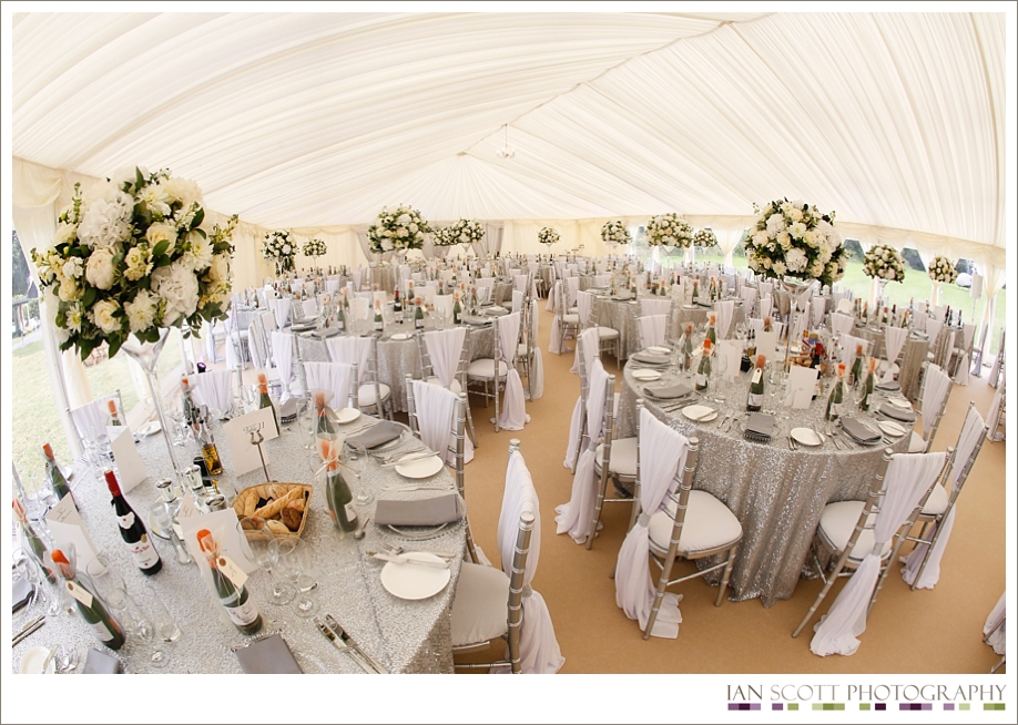 church wedding and marquee reception