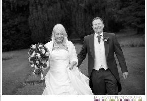 bride and groom at Hunton Park