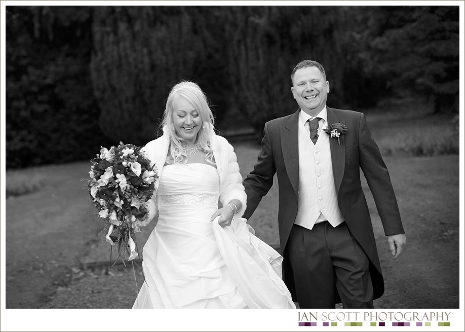 bride and groom at Hunton Park