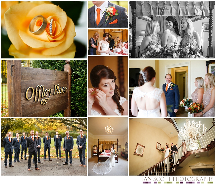 bride and groom at Offley Place