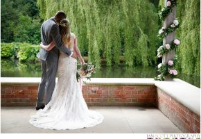 bride and groom at waddesdon dairy