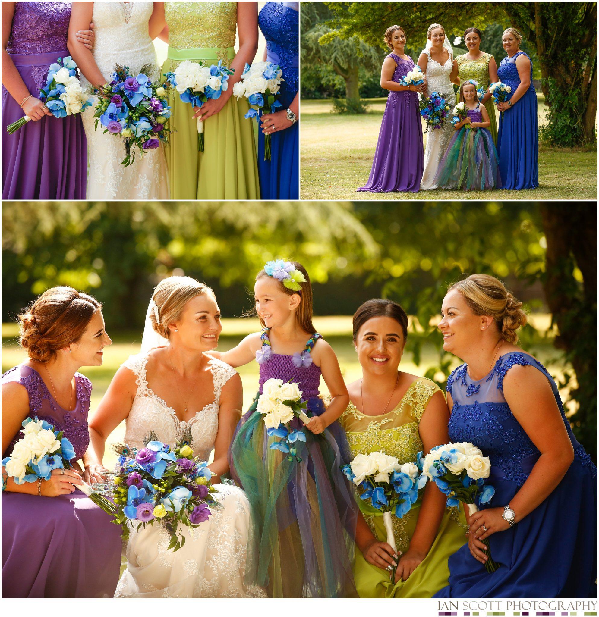 bridesmaids at offley place